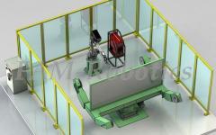 робот и трехосевой ротатор
